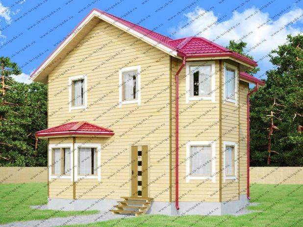 Двухэтажный дом из бруса 7х8 под ключ