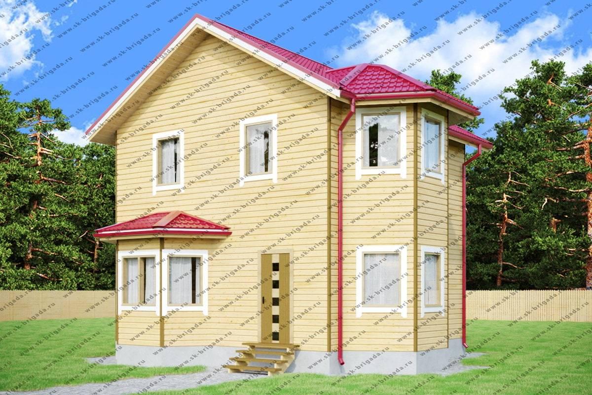Проект двухэтажного дома из бруса 7х8 — фото, планировка и ...  Дом из Бруса 7х8
