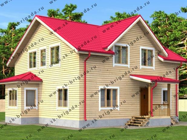Проект коттеджа для загородного дома 10х10 под ключ