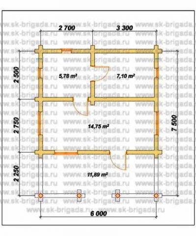 Планировка 1 этажа 5х6 метров