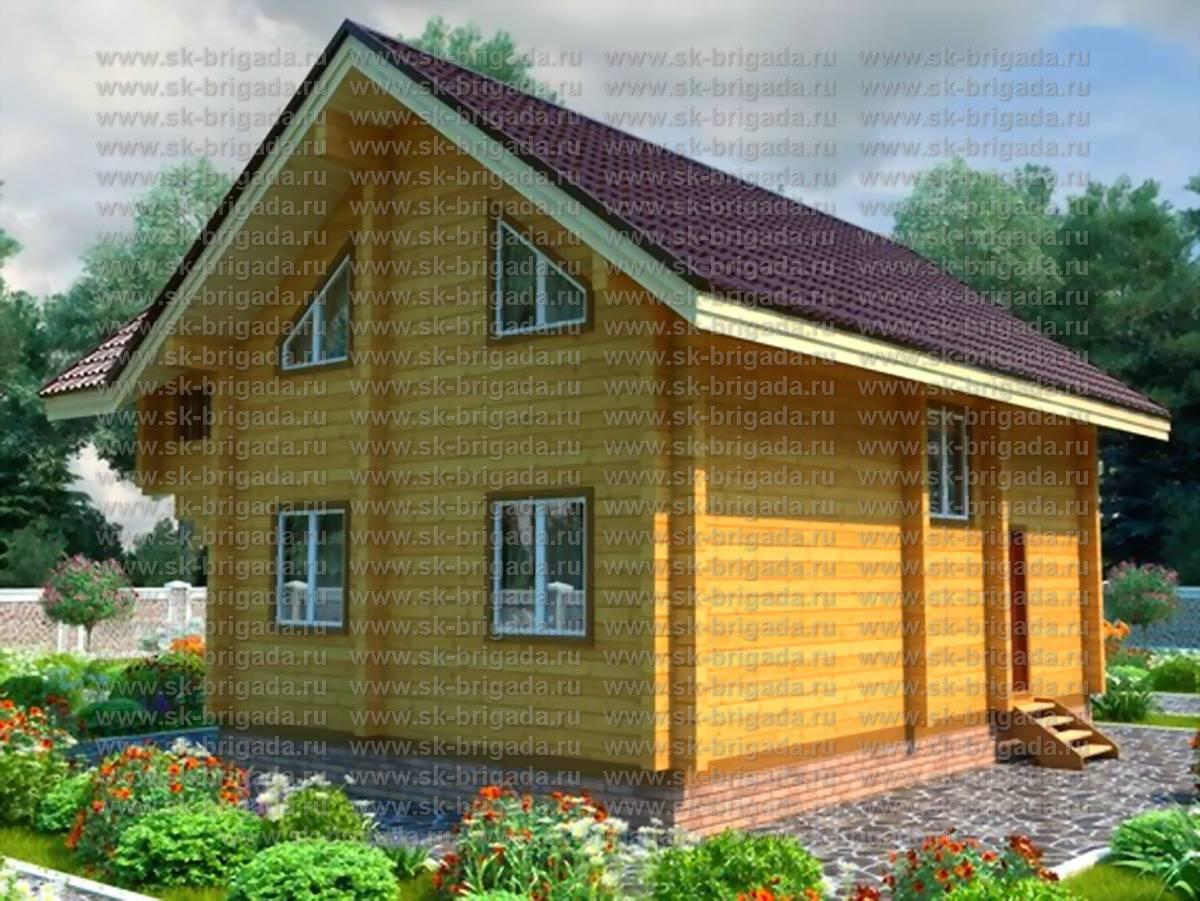 Проект дома из бруса дб 101 9х6.