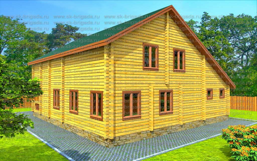 Проект дома из профилированного бруса 11х11 - планировка, це.