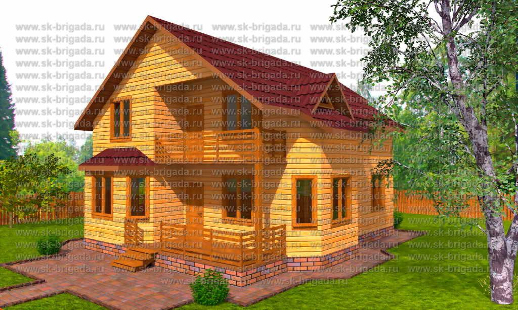 Проекты домов из бруса 8х11 - цены и фото москва.