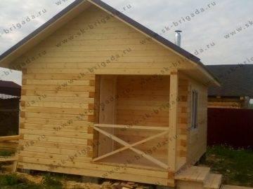 Одноэтажный дом из бруса под крышу