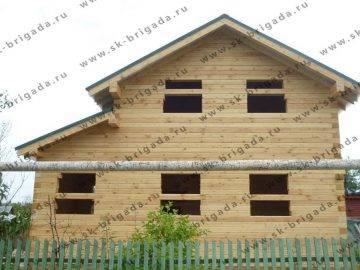 Двухэтажный проект дома из бруса