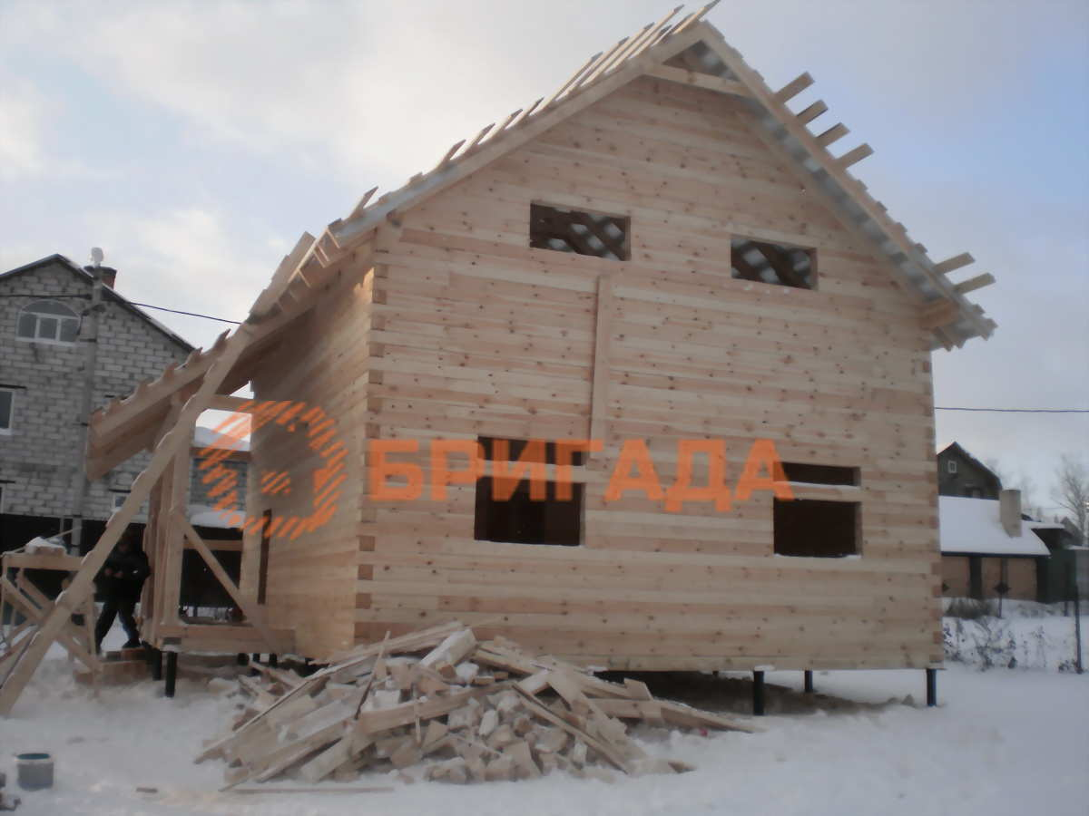 Строительство дома из бруса отчет
