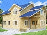 Проект двухэтажного дома 8 на 13 из бруса