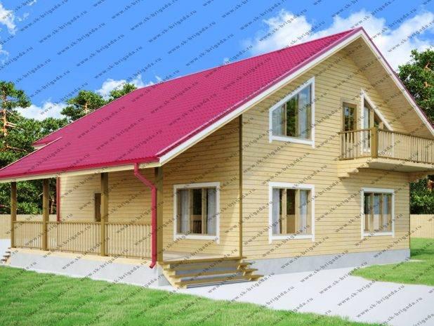 Проект дома 11 на 12 с мансардой под ключ