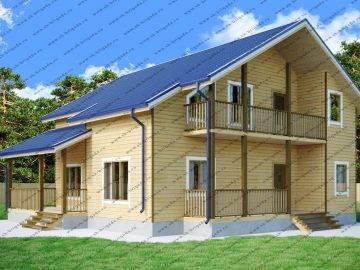 Проект дома 11х12 с высокой мансардой