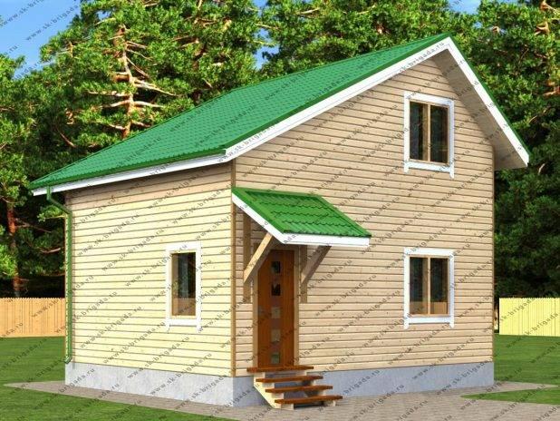Компактный загородный дом из бруса под ключ