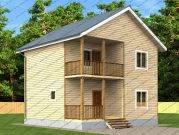Проект двухэтажного дома из бруса 8х8