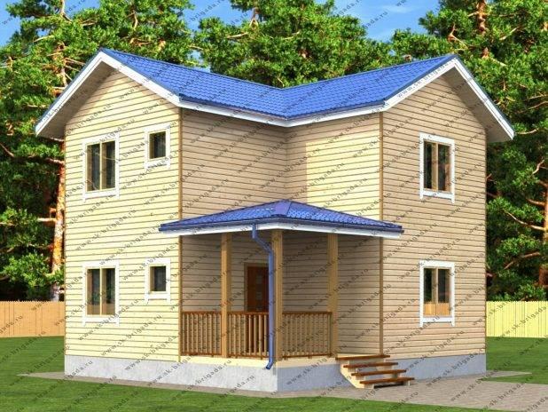 Проект двухэтажного дома с тремя спальнями под ключ