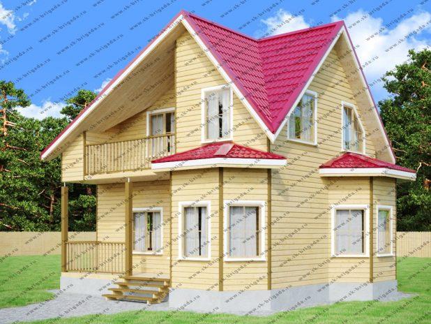 Дачный дом с балконом и террасой под ключ