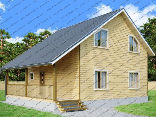 Проект дома 8х8 с отличной планировкой из бруса под ключ