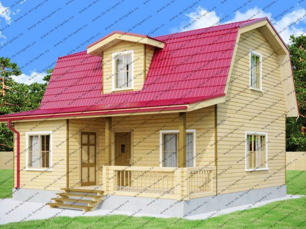 Дачный дом 8х8 с мансардой под ключ