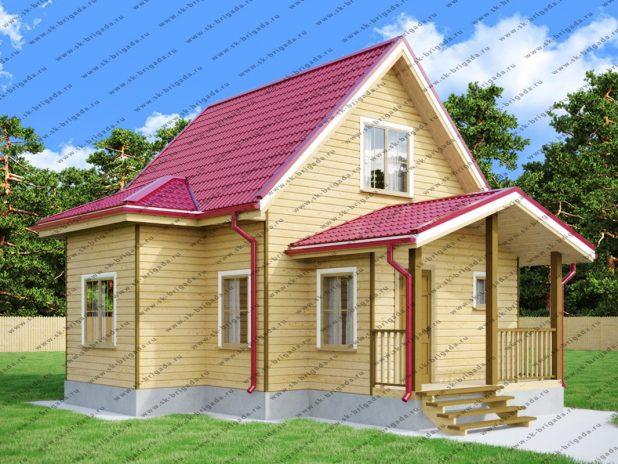 Проект дома 7,5 на 7,5 (2 этажа с мансардой) под ключ