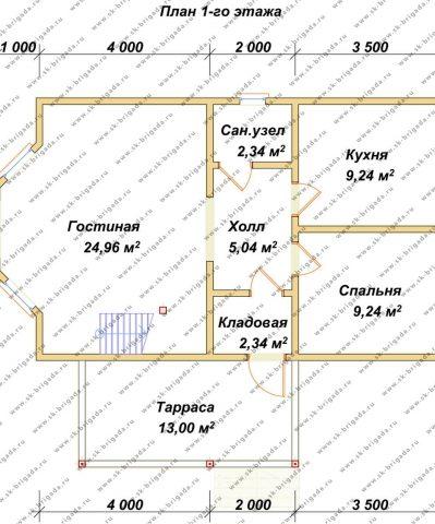 Планировка 1 этажа 6х10 метров