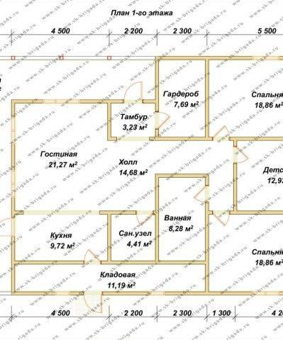 Планировка 1 этажа 11х17 метров