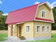 Проект брусового дома 6х9 с мансардой