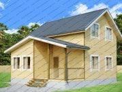 Проект дома 8 на 8 с верандой и террасой
