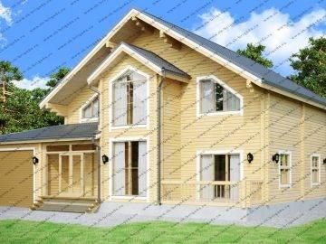 Дом из бруса 11х15 с гаражом