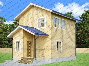 Дом 6 на 9 двухэтажный из бруса