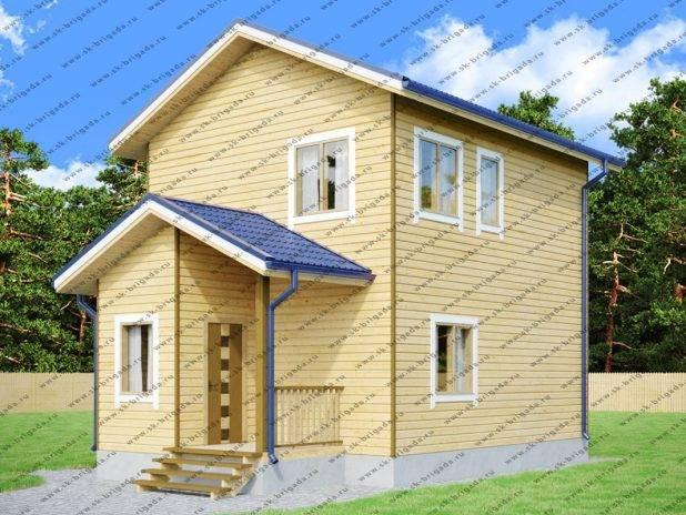 Дом 6 на 9 двухэтажный из бруса под ключ