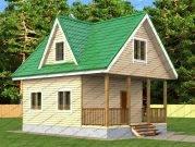 Проект дома с террасой впереди дома