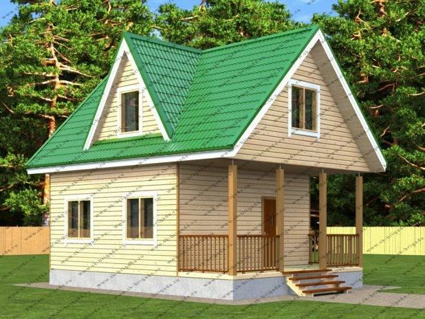 Проект дома с террасой впереди дома под ключ