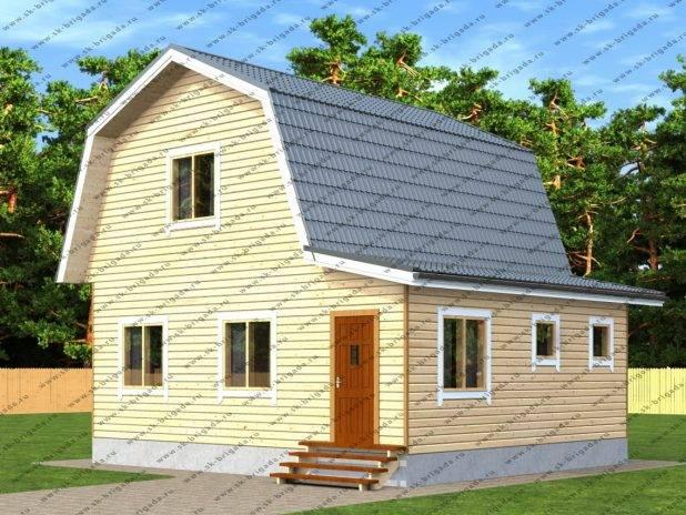 Проект дома 7х8 с верандой и котельной под ключ