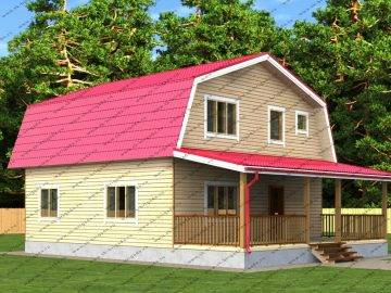 Проект дома из бруса Комфорт