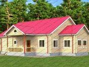 Проект дома из бруса Премьер