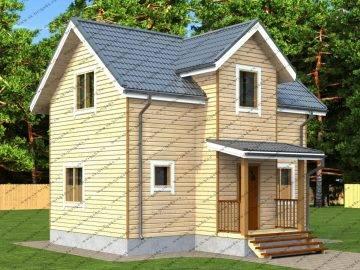 Терем дом из бруса 6х8 проект