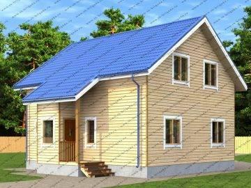 Проект дом из бруса Аврора