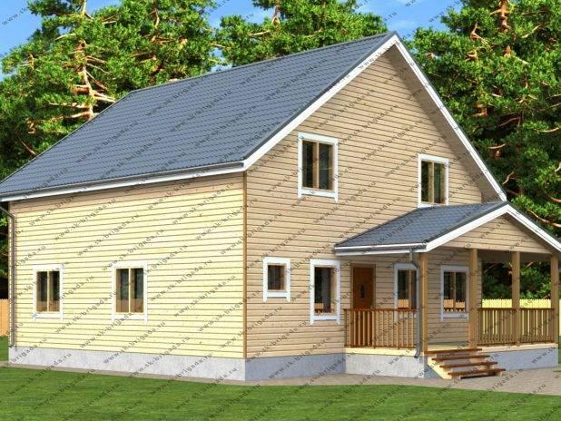 Проект дома из профилированного бруса для постоянного проживания под ключ