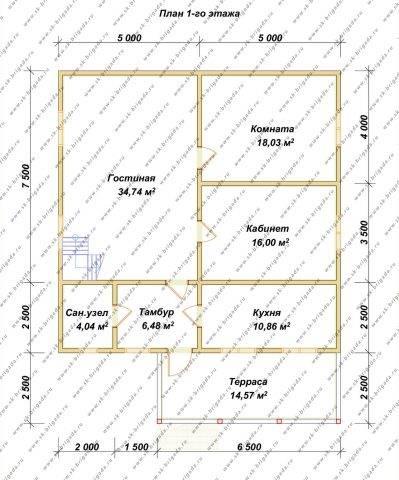 Планировка 1 этажа 10х10 метров