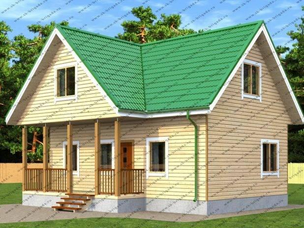 Гостевой домик для дачи с верандой под ключ