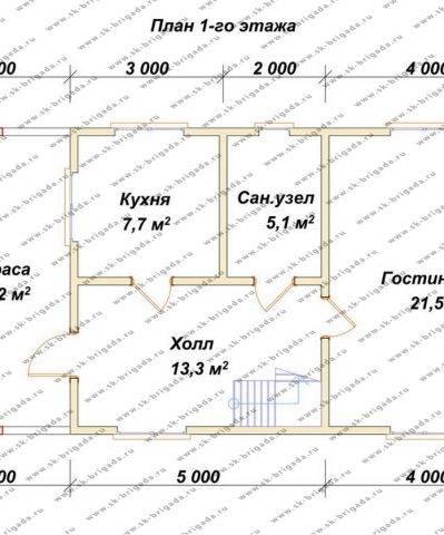 Планировка 1 этажа 6х12 метров