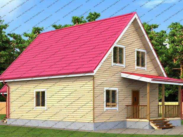 Проект дома из профилированного бруса 8х10 под ключ