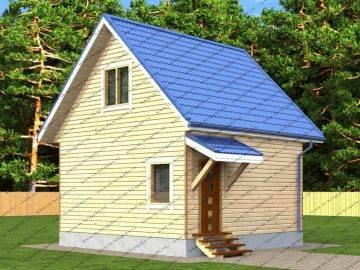 Мини дом из бруса 6х6