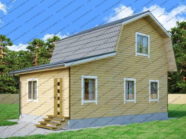 Проект деревянного дома 6х9 с мансардой под ключ