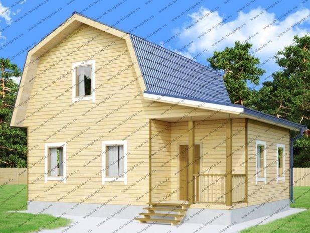 Дачный дом 7х9 с мансардой и верандой под ключ