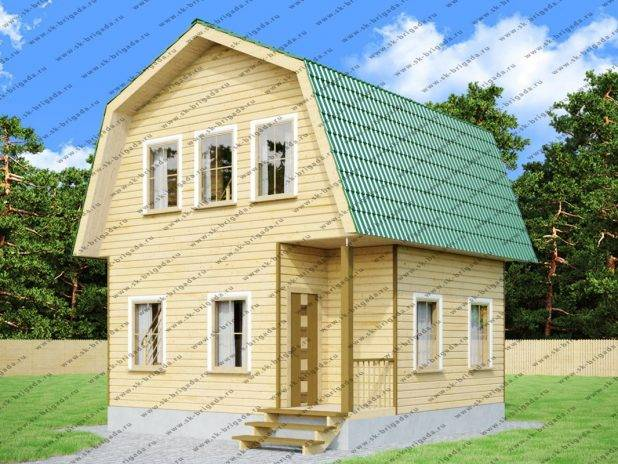 Проект дома из бруса 6х6 с мансардой под ключ