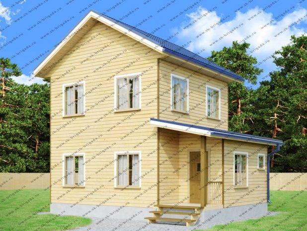 Проект двухэтажного дома 6 на 8 из бруса под ключ