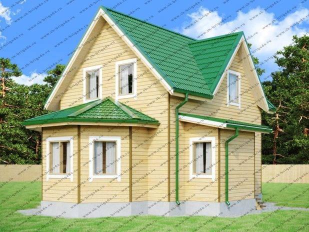Проект двухэтажного дома 6 на 7 из бруса под ключ