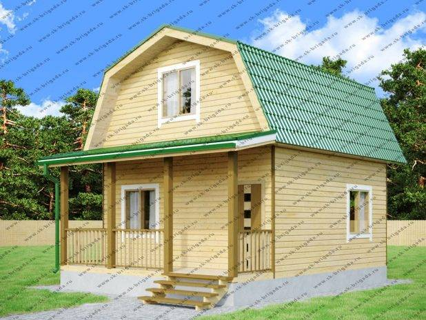 Проект дачного дома 6х6 с мансардой под ключ