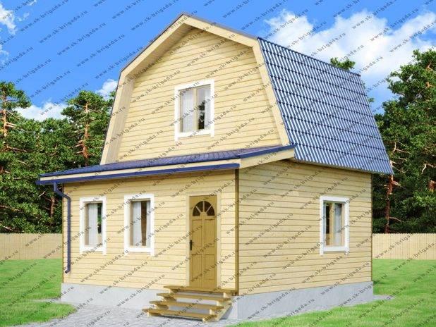 Проект дома из бруса 6х6 с верандой под ключ