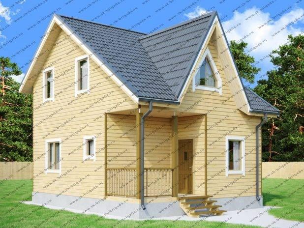 Типовой проект дачного дома из бруса под ключ