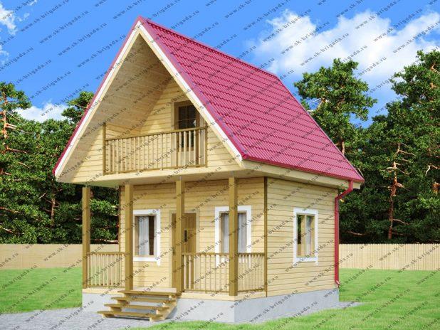 Дом из бруса 4х6 с мансардой под ключ
