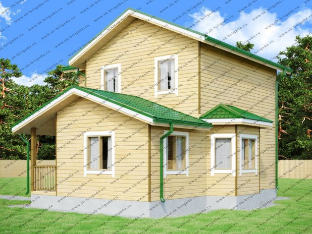 Проект двухэтажного дома 6х10 из бруса под ключ